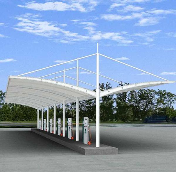 膜结构停车棚外部噪声阻隔