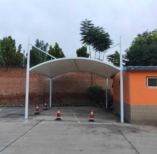 膜结构车棚雨季施工注意事项