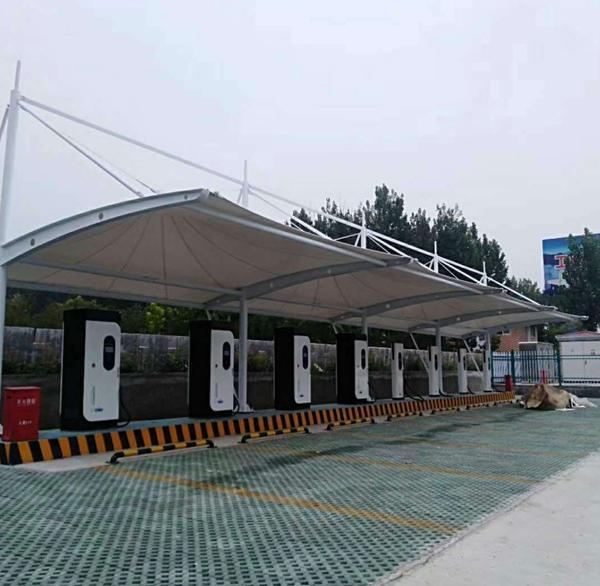 膜结构充电桩停车棚