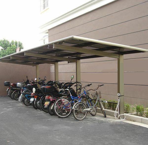 别墅膜结构自行车棚