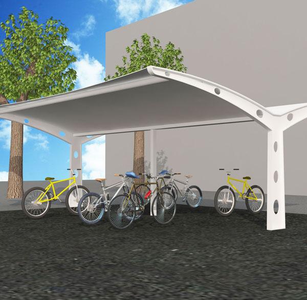 室外公共自行车棚安装