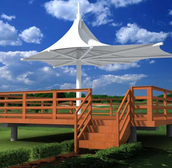 济南膜结构伞