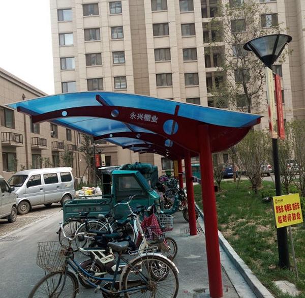 小区膜结构自行车棚