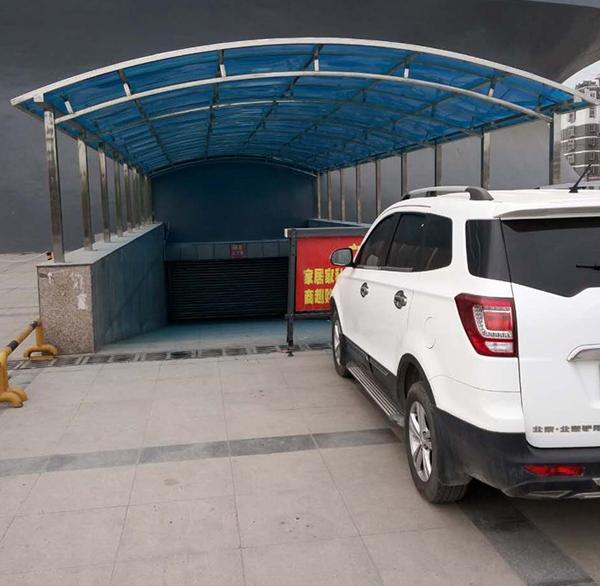 户外机动车车棚