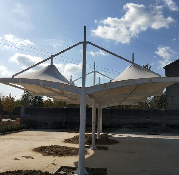 膜结构公共自行车棚