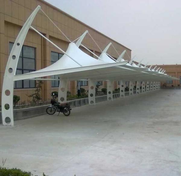 膜结构公共自行车棚设计