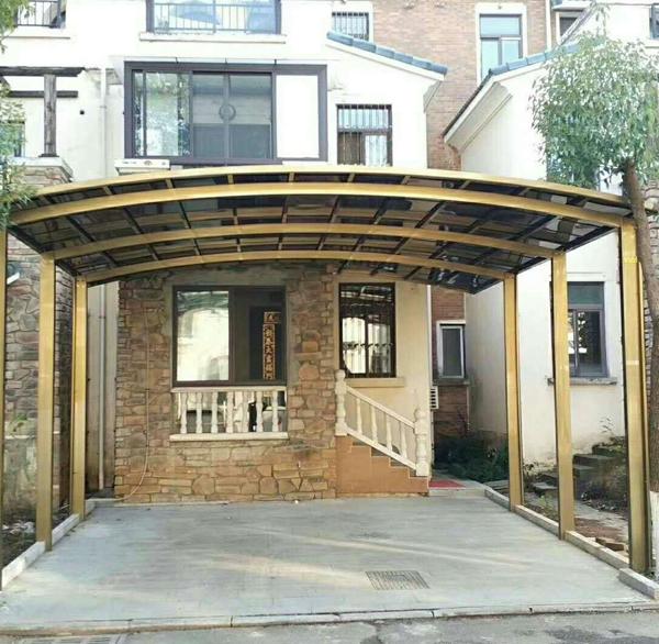 别墅膜结构汽车棚