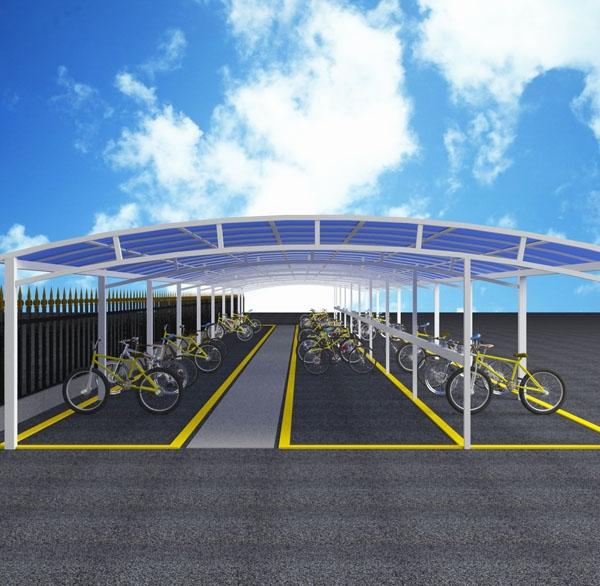 大型自行车停车棚