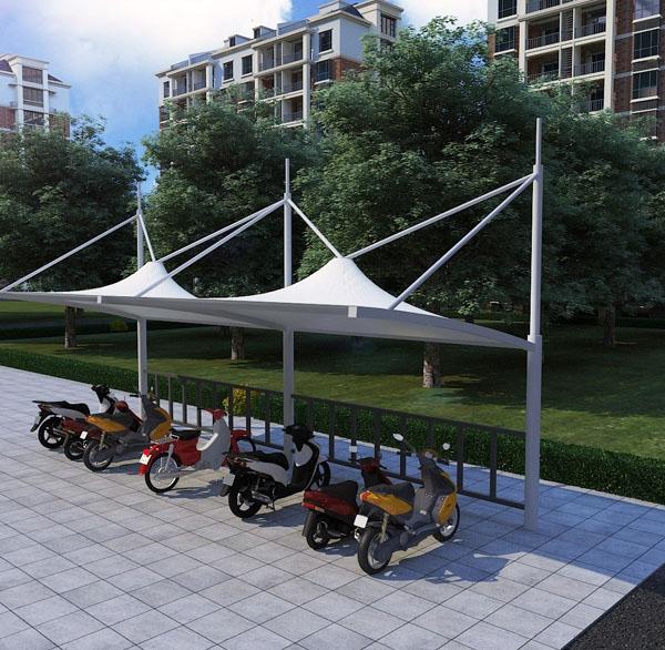 大型自行车棚安装
